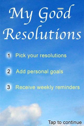 Good Resolutions screenshot