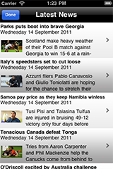 Rugby World Cup Calendar 2011 screenshot